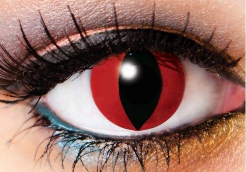 Red Devil Demon Contacts - 90 Day