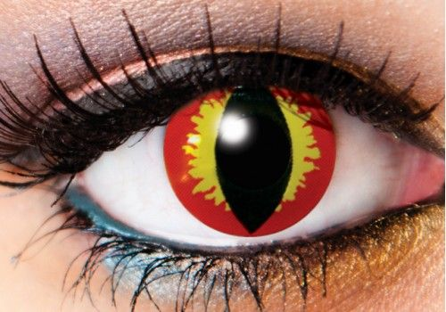 Red Dragon Eye Contacts - 90 Day
