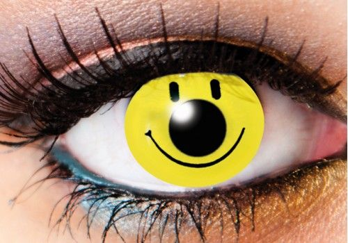 Smiley Face Contacts - 90 Day