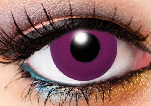 Solid Tone Purple Contacts - 90 Day