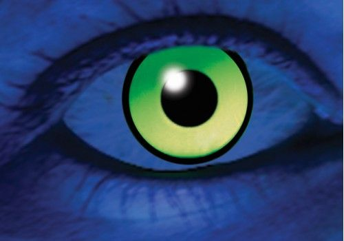 UV Green Contacts - 1 Day