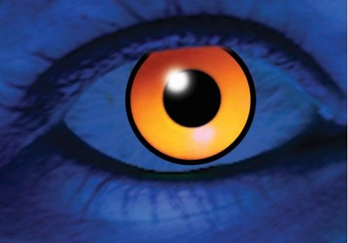 UV Orange Contacts - 90 Day
